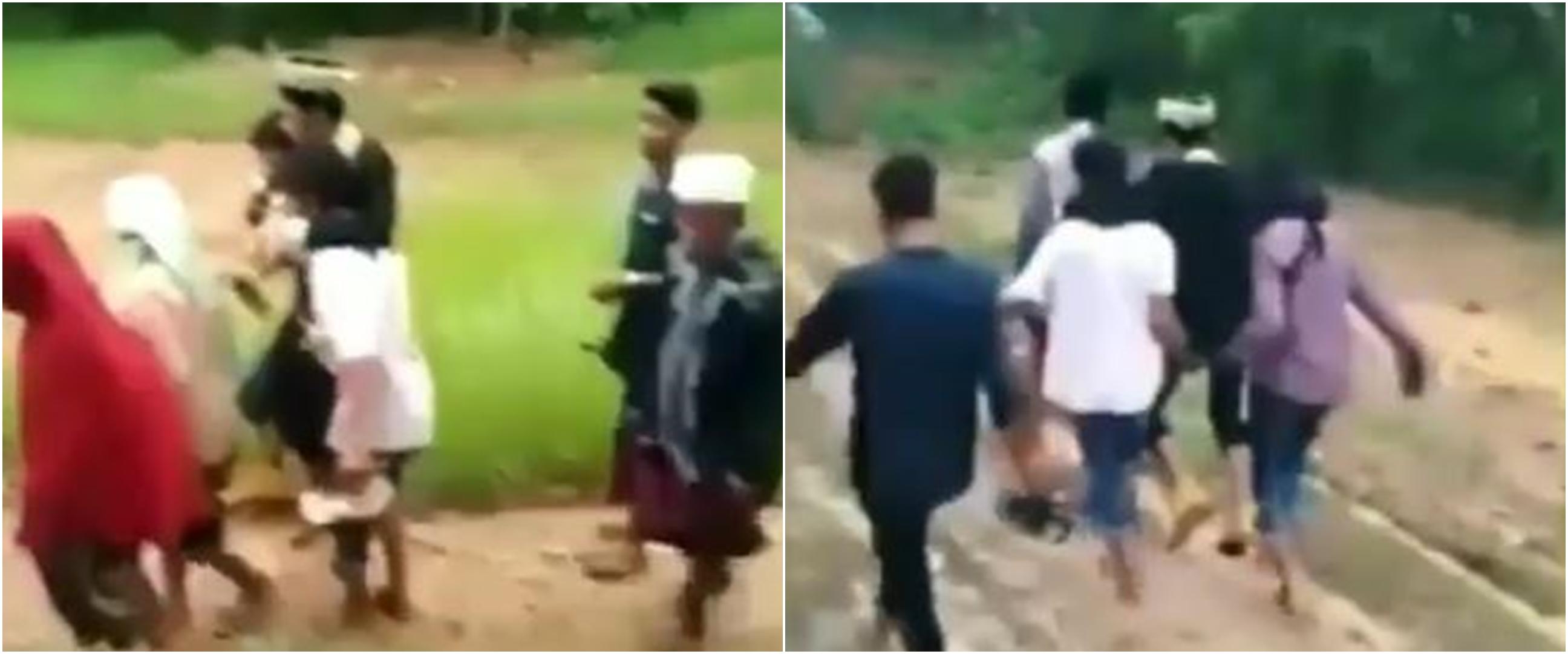 Viral pengantin pria digendong lewati jalan berlumpur