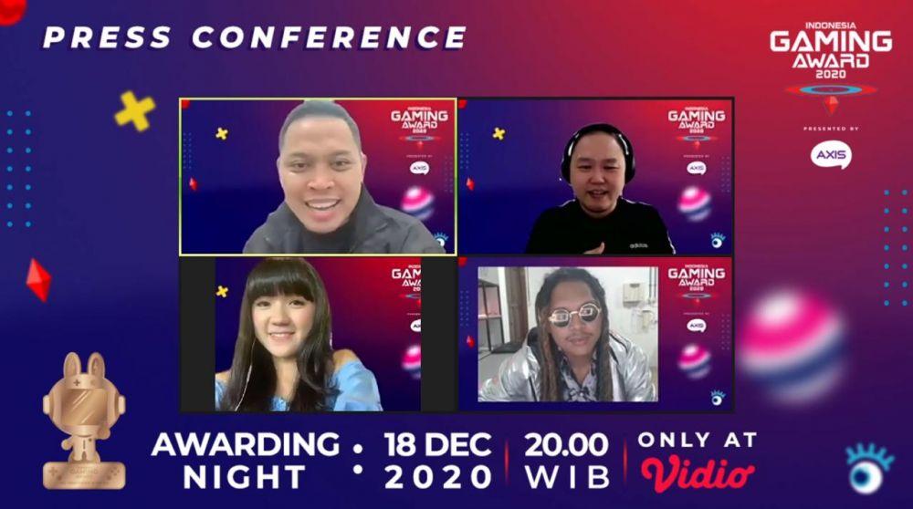 keseruan di Indonesia Gaming Award 2020 © 2020 brilio.net