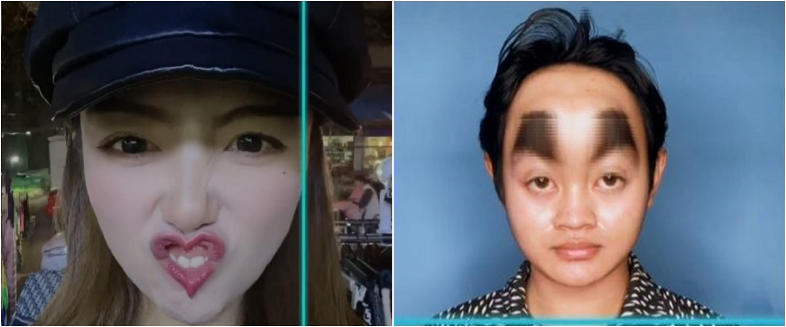 10 Potret wajah pakai efek Time Warp Scan TikTok, kocak