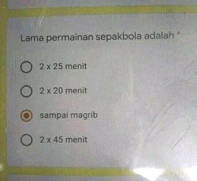Soal ujian online berbagai sumber