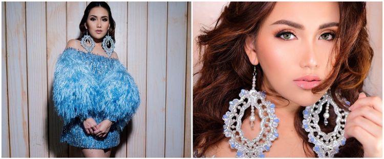 10 Gaya Ayu Ting Ting pakai dress biru, disebut mirip Elsa Frozen
