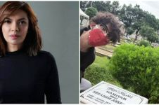 Momen Najwa Shihab ziarah ke makam putrinya, penuh haru