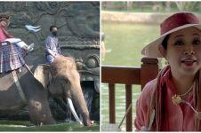 8 Momen Titiek Soeharto dijemput gajah untuk sarapan, curi perhatian