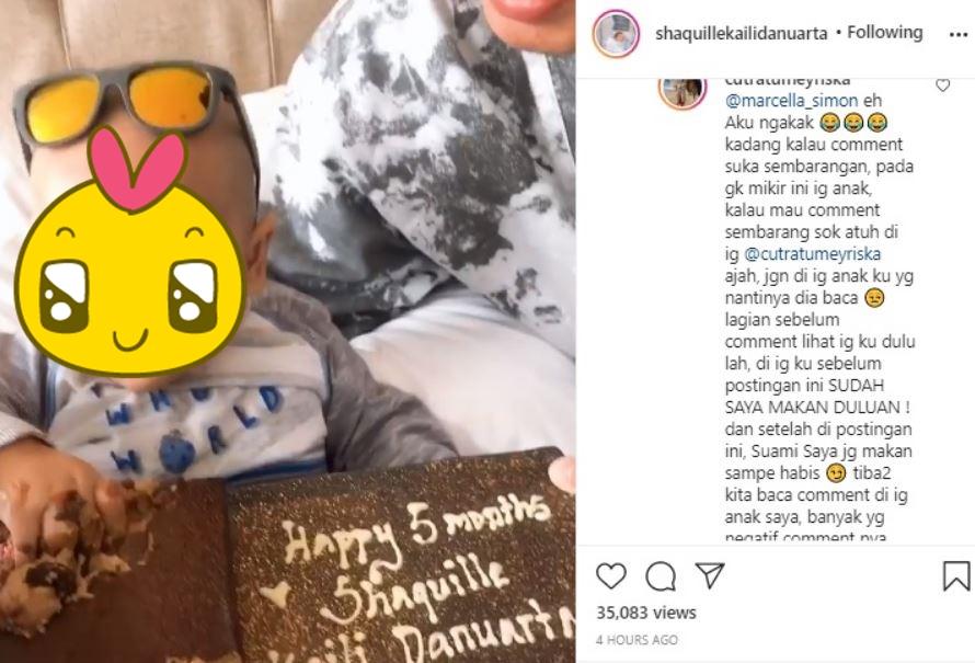 Jawaban Cut Meyriska soal baby Shaquille © Instagram