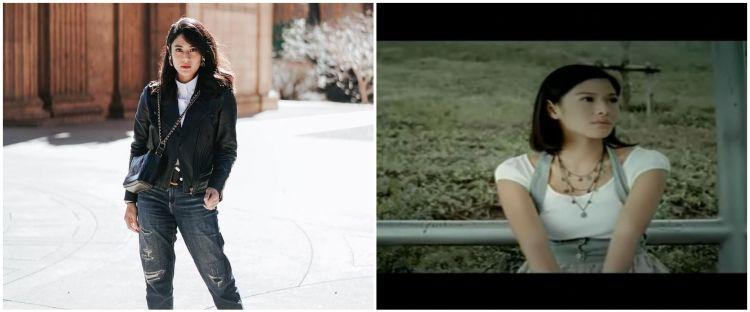 10 Potret Dian Sastro saat jadi model video klip, gayanya jadul