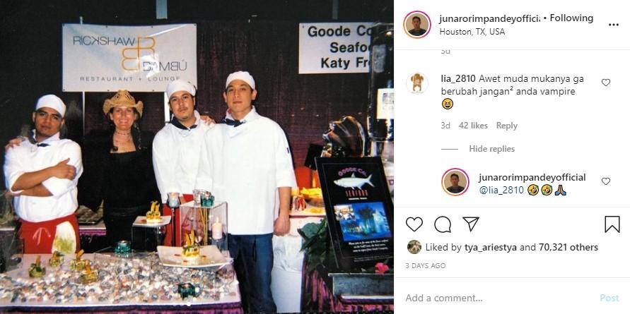 Foto lawas chef Juna © Instagram