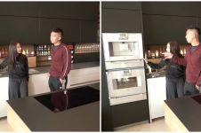 8 Potret dapur apartemen Nikita Willy, canggih ada mesin kopi otomatis