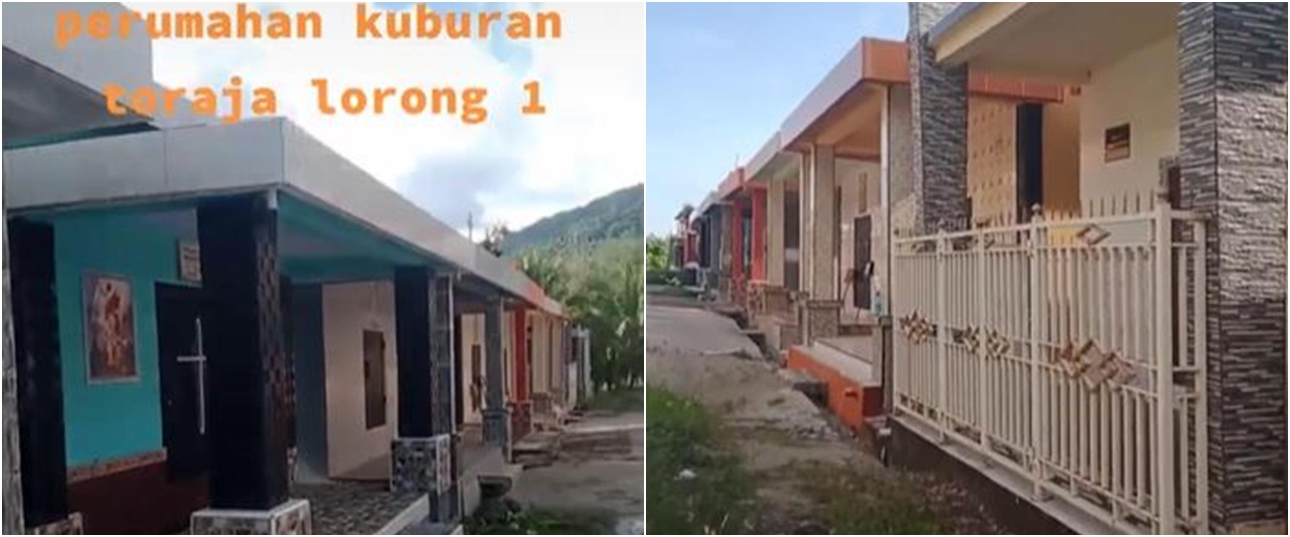 Viral video pemakaman bak perumahan di Toraja, unik
