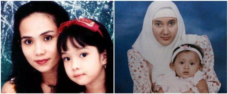 Potret masa kecil 10 penyanyi dan ibunda, Nagita Slavina bikin gemas