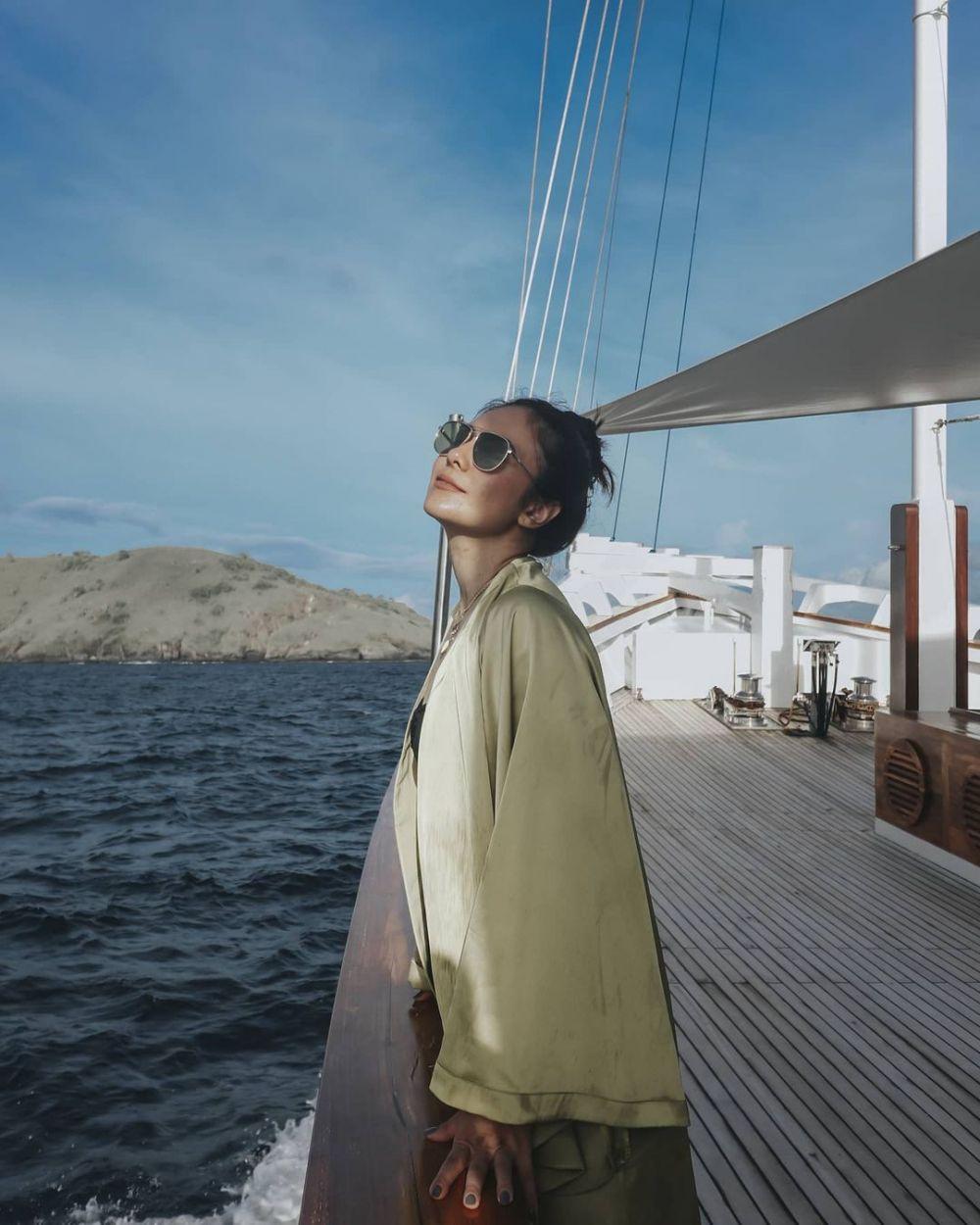 momen liburan wulan guritno dan shalom © Instagram