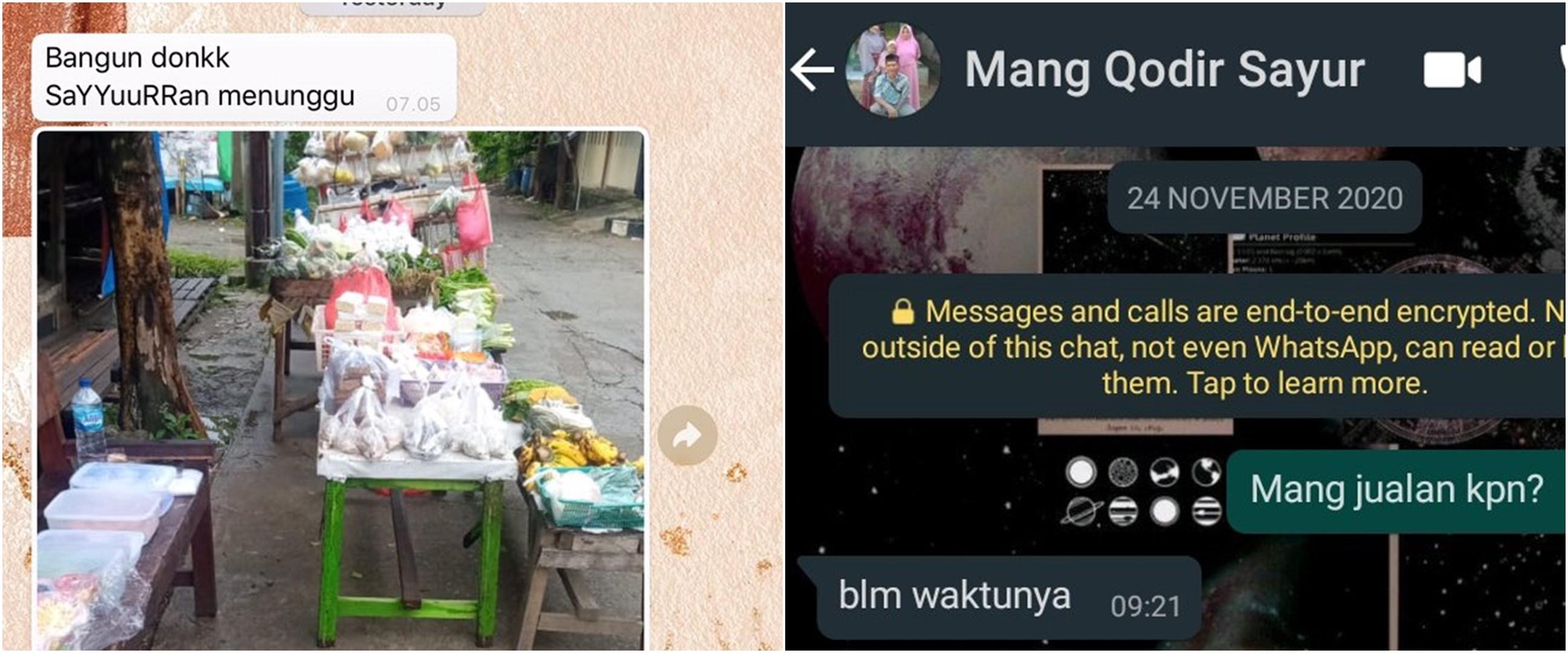 10 Chat WhatsApp lucu dengan tukang sayur ini endingnya bikin ngakak