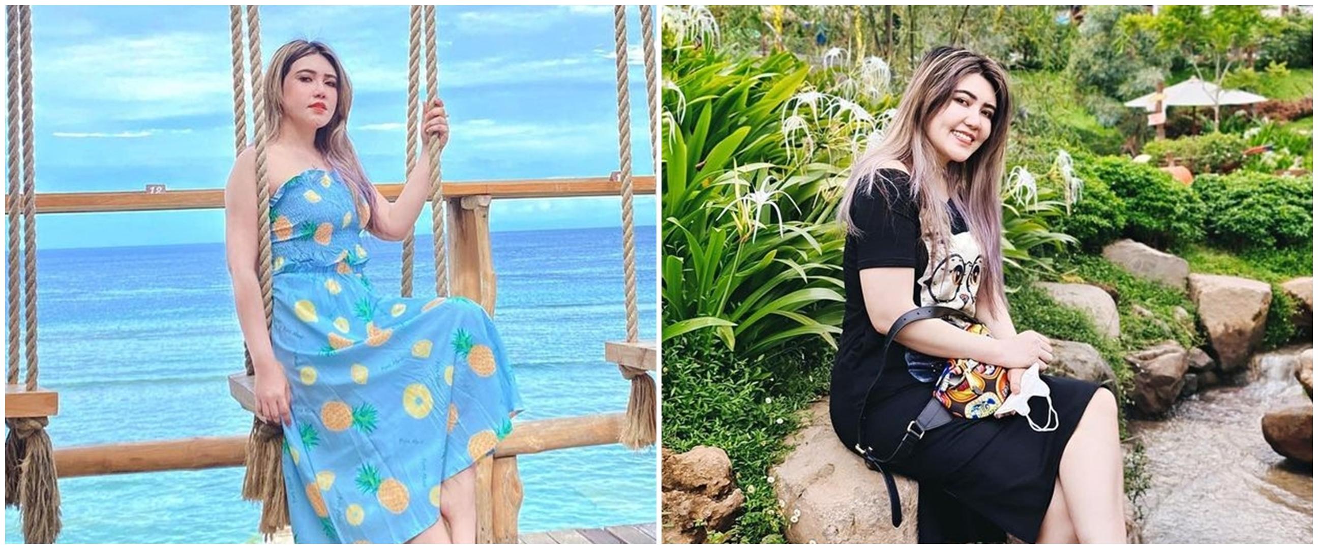 10 Momen Via Vallen liburan di Nusa Penida, berani panjat tebing curam