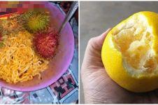 10 Cara orang makan buah ini malah bikin dahi berkerut