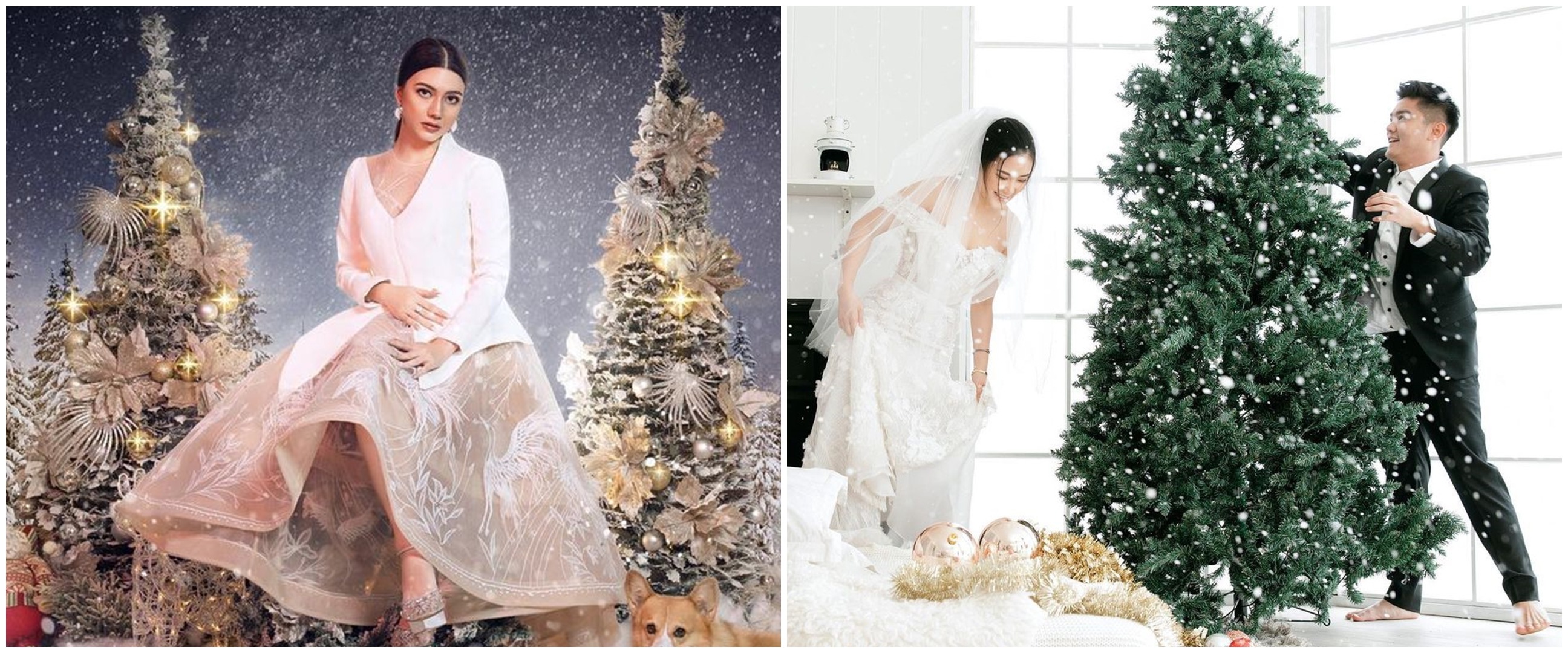 Gaya 12 seleb pemotretan bertema Natal, glamor hingga romantis