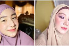 Biasa tampil natural, ini 10 potret Indri Giana pakai makeup tebal