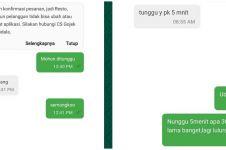 10 Chat lucu tunggu-tungguan antara penumpang & driver ojek online