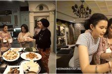 10 Momen dinner Natal keluarga Ashanty di rumah Sarah Menzel