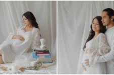 Hamil anak pertama, ini 10 gaya pemotretan maternity Ana Riana TOP