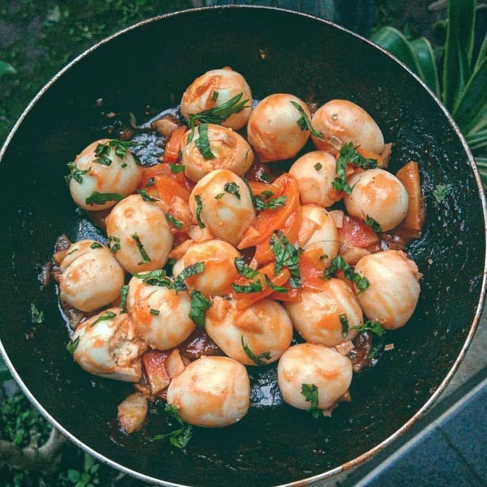 Resep lauk dari olahan telur puyuh © Instagram