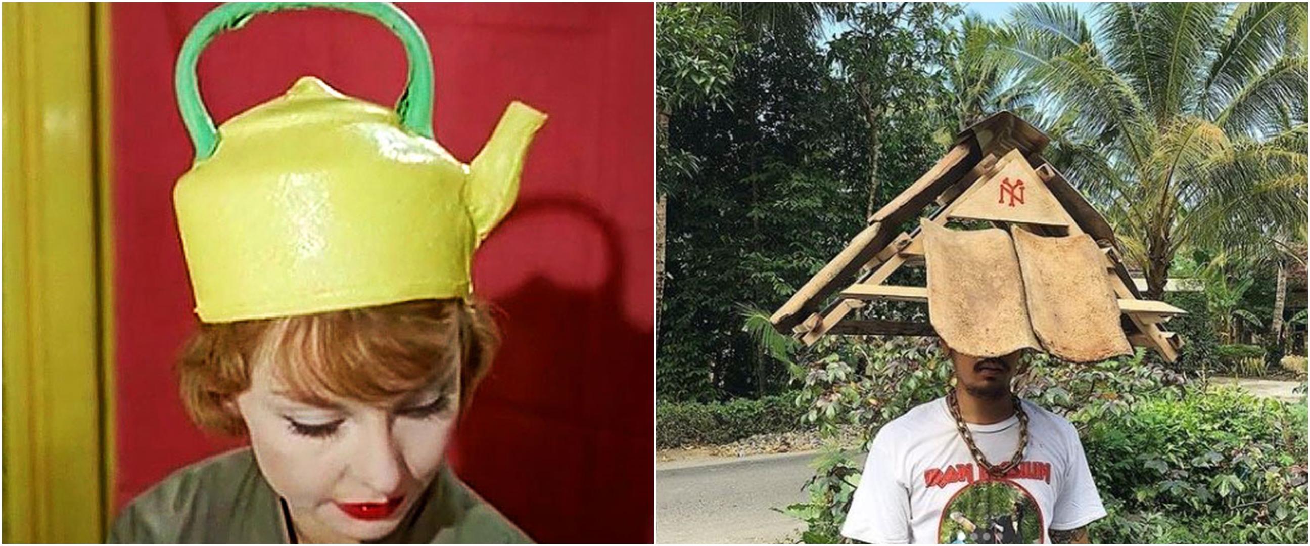 10 Penampakan topi dengan bentuk absurd ini bikin mikir dua kali