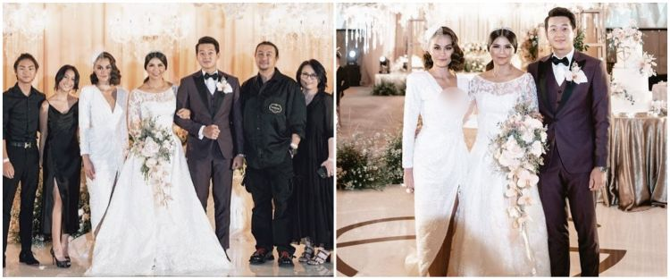 8 Potret Agnez Mo hadiri nikahan Greysia Polii, gayanya disorot