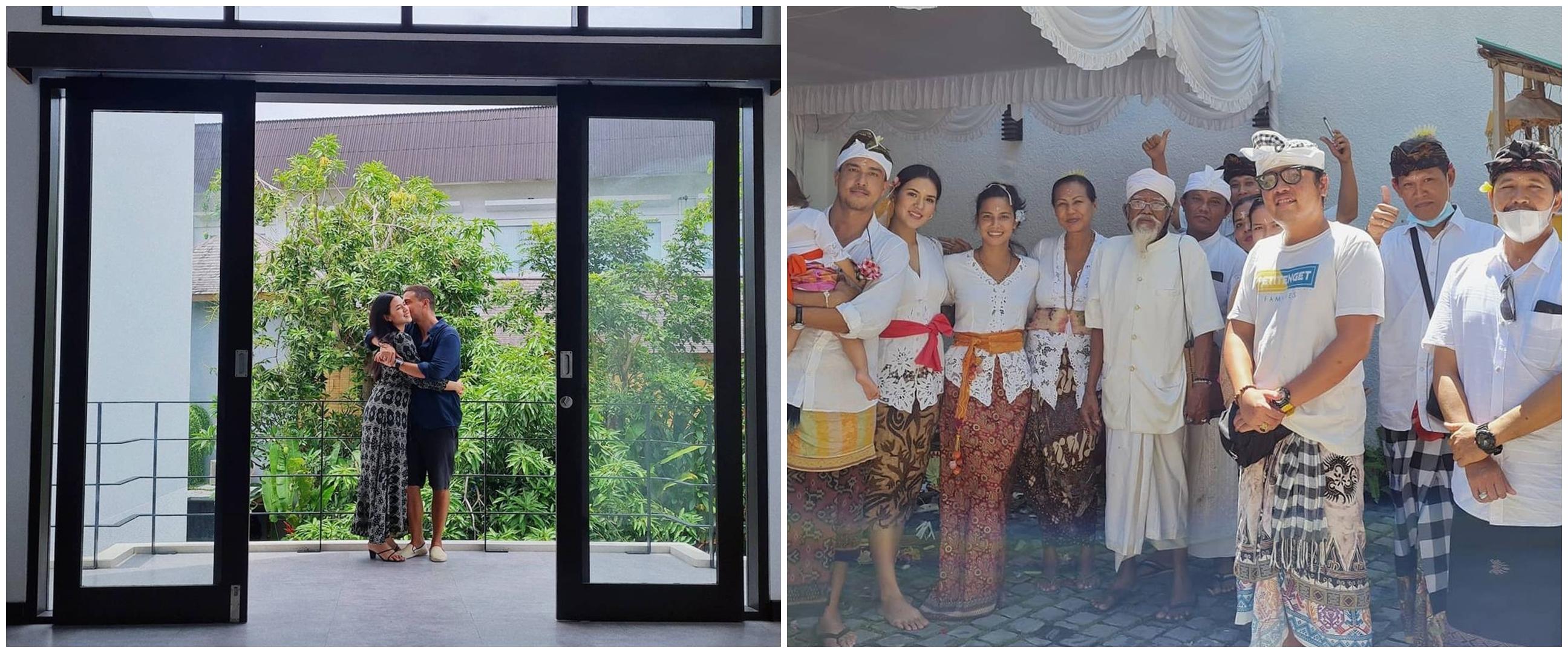 Pindah ke rumah baru, 10 momen Raisa gelar upacara melaspas adat Bali