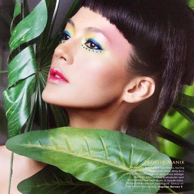 Paula Verhoeven makeup tebal ©Instagram