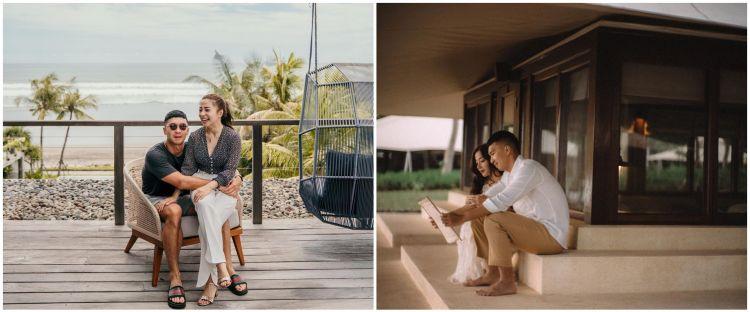 8 Momen private honeymoon Nikita Willy, nginap di villa bertenda