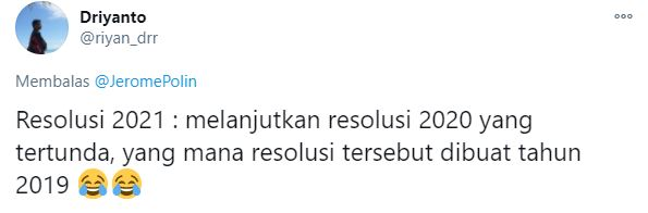 cuitan resolusi 2021 Twitter