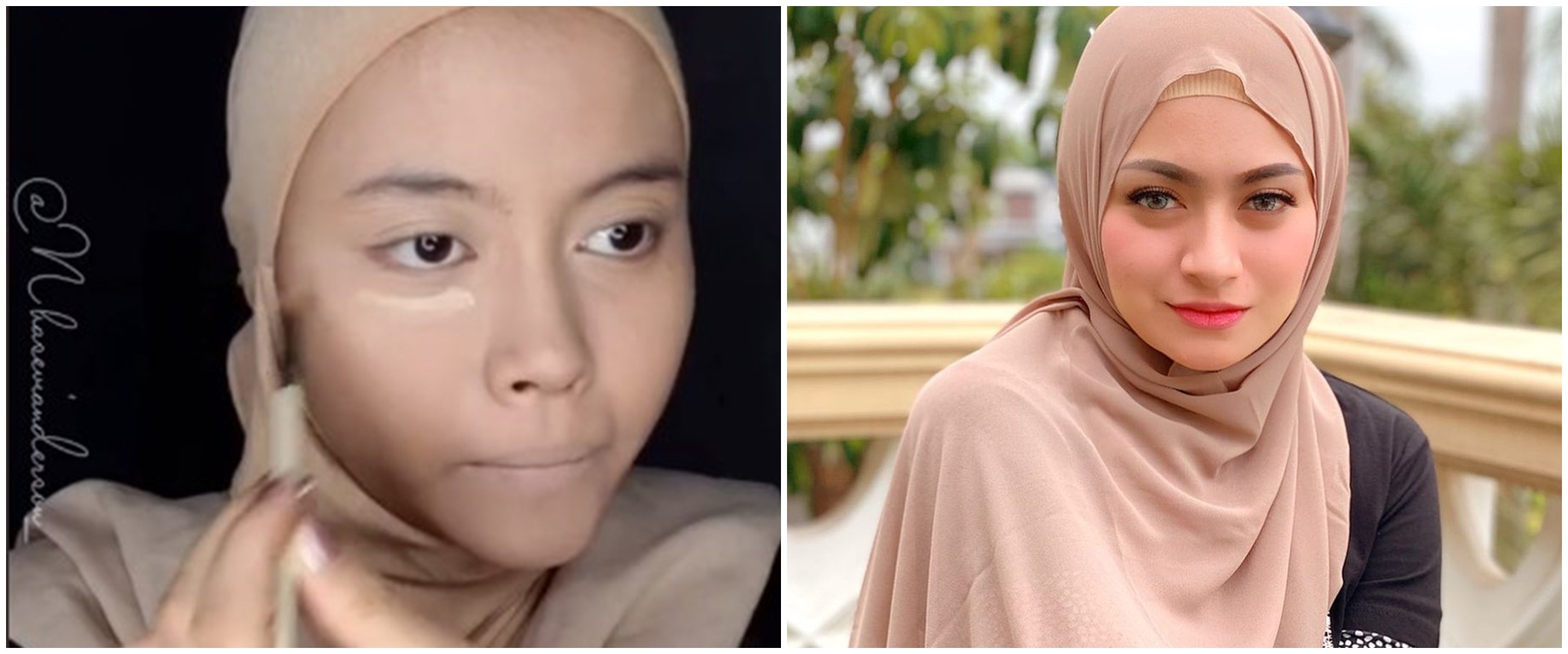 Viral wanita dandan ala Nathalie Holscher, mirip bak kembar identik