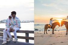 Potret romantis 10 seleb saat di pantai, termasuk Lesty & Rizky Billar