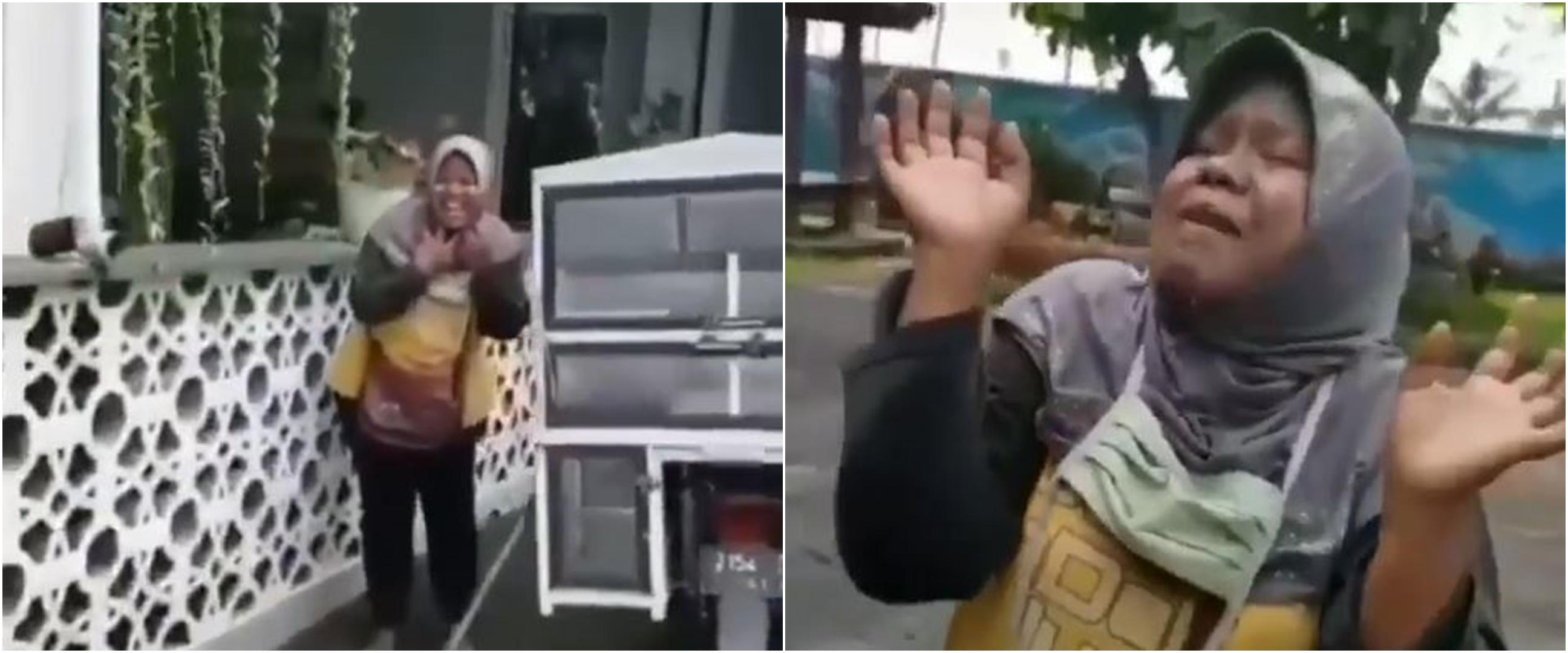 Viral video ibu penjual menu sarapan pagi, cara jualannya unik banget