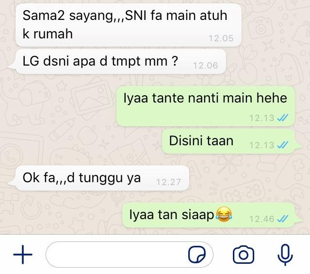 Chat dari orangtua pacar © berbagai sumber
