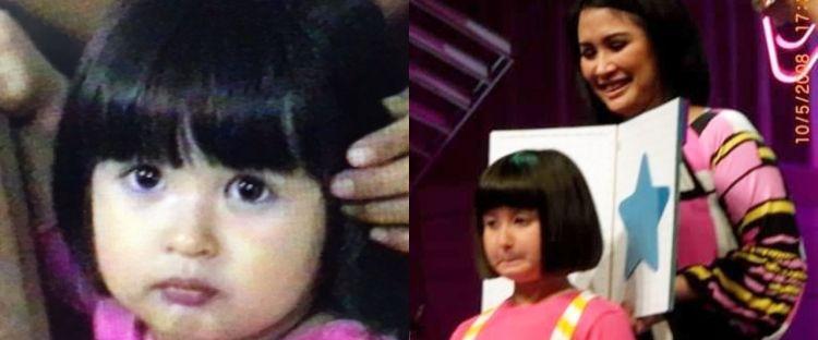 10 Potret masa kecil Stephanie Poetri, gemas dengan rambut pendek