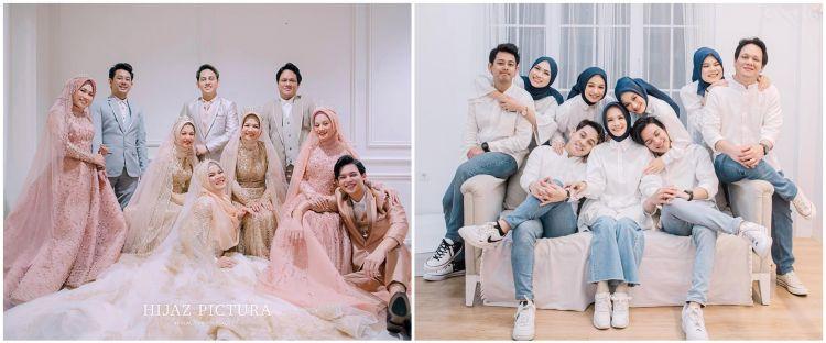 10 Pemotretan keluarga besar Dinda Hauw, simpel hingga elegan