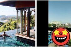 Pesan hotel dengan pool view, yang didapat warganet ini bikin ngakak