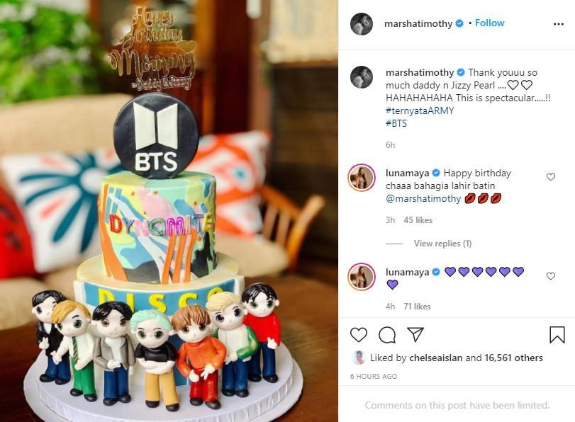 Marsha Timothy ultah Instagram