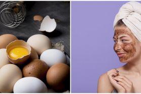 Cara membuat masker dari kopi dan putih telur, bikin wajah glowing