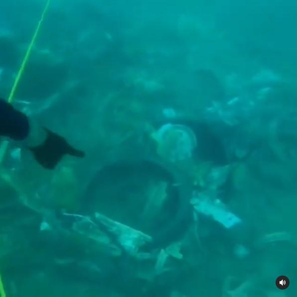 Kondisi dasar laut Kepulauan Seribu © Instagram