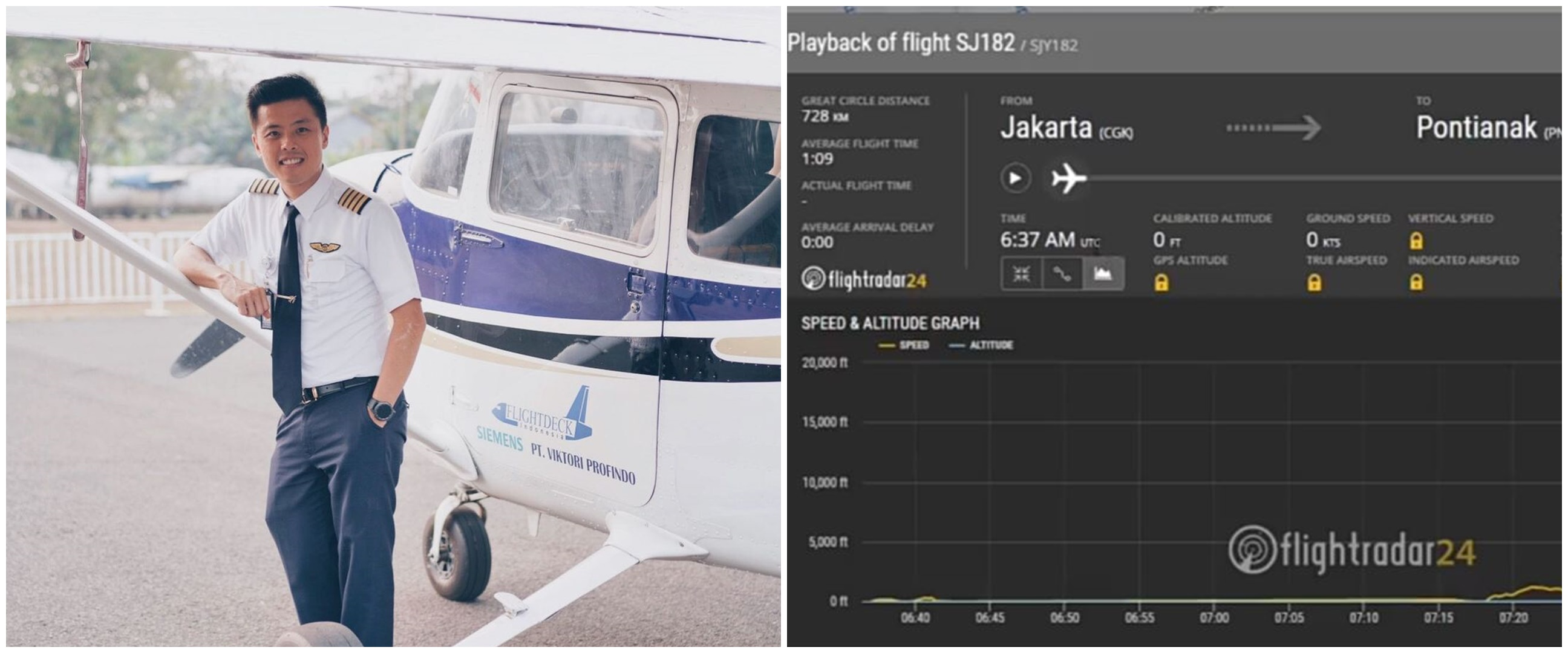 Analisa data flightradar24 Sriwijaya Air SJ182 oleh Captain Vincent