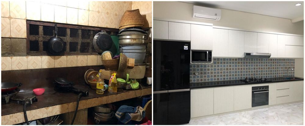 dapur seleb sesudah dan sebelum renovasi © berbagai sumber