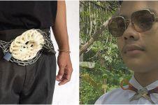 10 Gaya fashion nyeleneh pakai benda sehari hari bikin geleng kepala