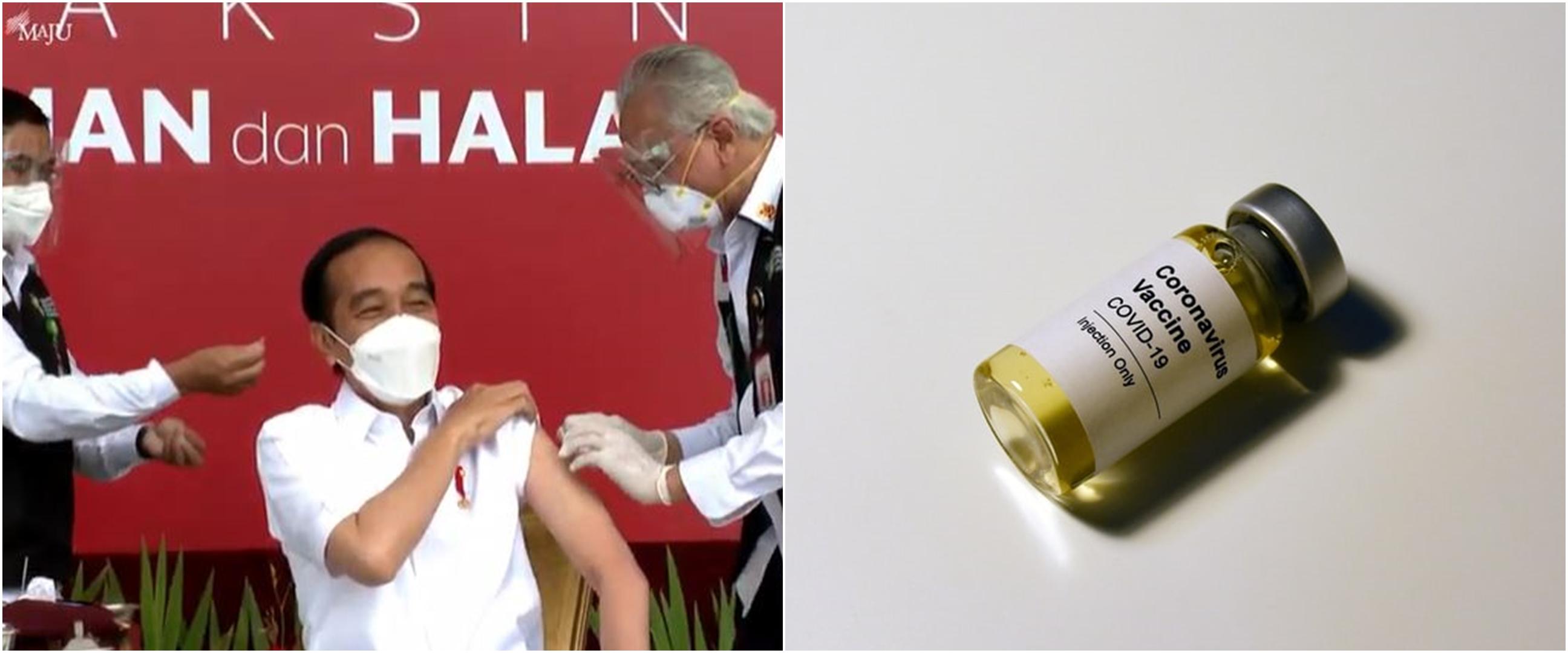 Momen Jokowi disuntik vaksin Covid-19 Sinovac
