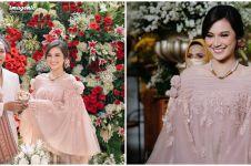 10 Potret gaun pernikahan Indah & Arie Kriting, karya Didiet Maulana