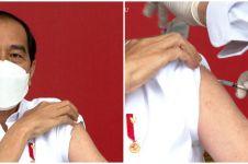 10 Momen penyuntikan vaksin Sinovac pertama pada Presiden Jokowi