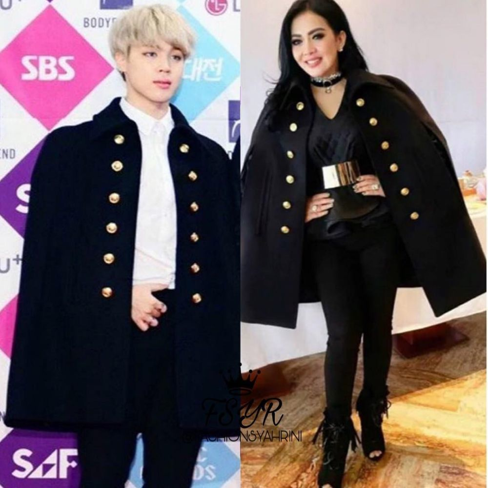 Syahrini kembaran baju dengan artis Korea © 2021 brilio.net