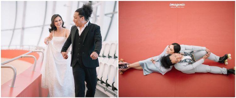 10 Potret prewedding Arie Kriting dan Indah Permatasari, romantis