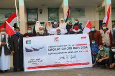 Momen haru warga Palestina salat gaib untuk korban Sriwijaya Air
