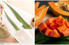 4 Cara membuat masker lidah buaya & pepaya, bisa cerahkan kulit