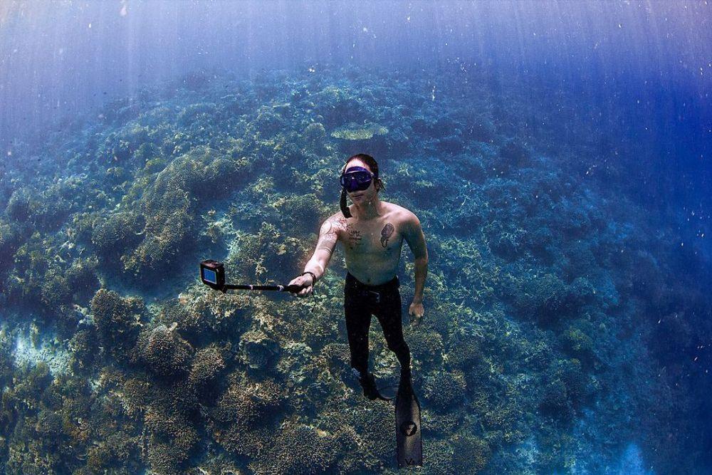 cerita seleb hobi diving © Instagram
